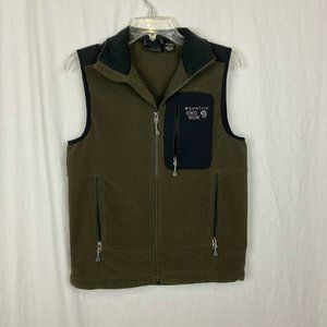 Mountain Hardwear Men's Olive Green front Vest- S